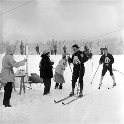 Serie. Skiløperen Håkon Brusveen, bl. under et langrenn på L