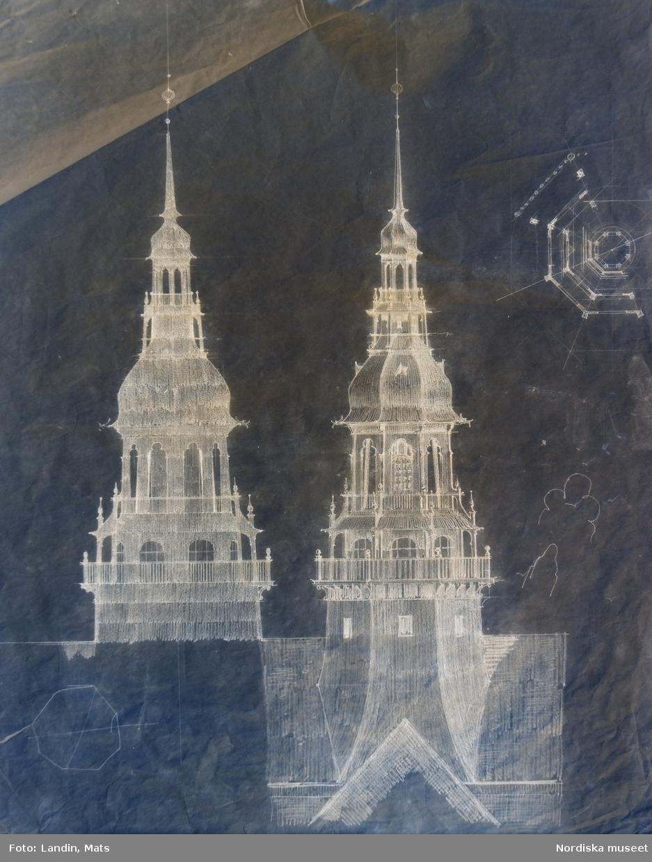 Nordiska museet  ritningar  skisser byggnaden Clason