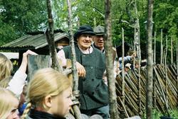 Dragoxarna Lasse och Bosse från Frödinge hembygdsförening vi
