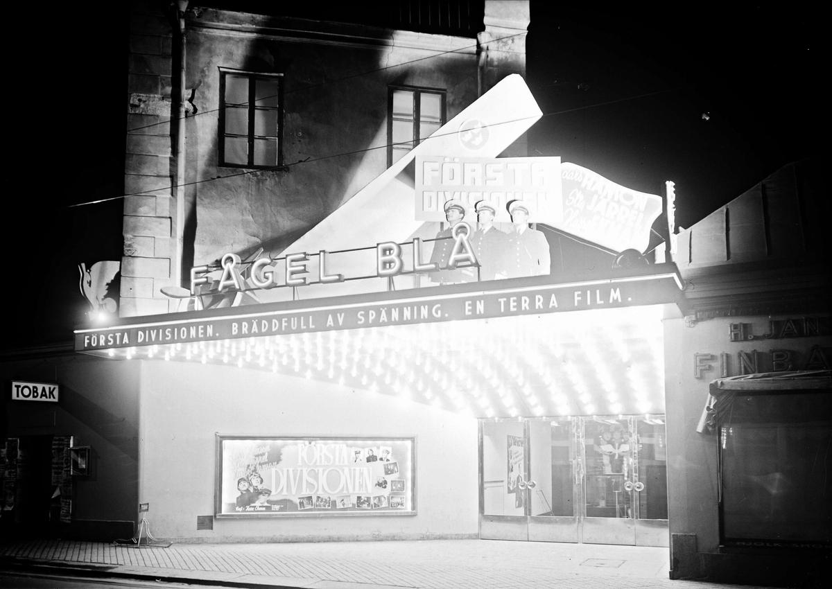 Biografen Fågel Blå, Svartbäcksgatan, Uppsala 1942