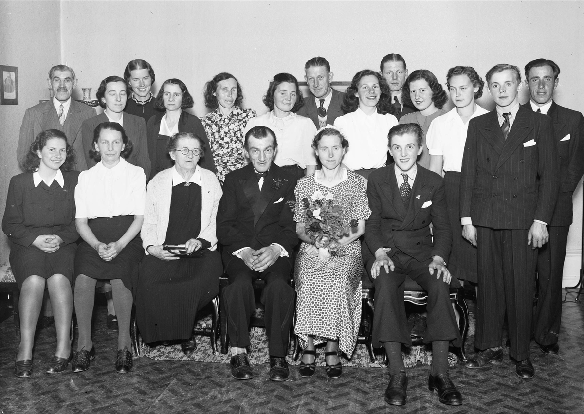 Bröllopsporträtt - sannolikt i Uppsala 1942