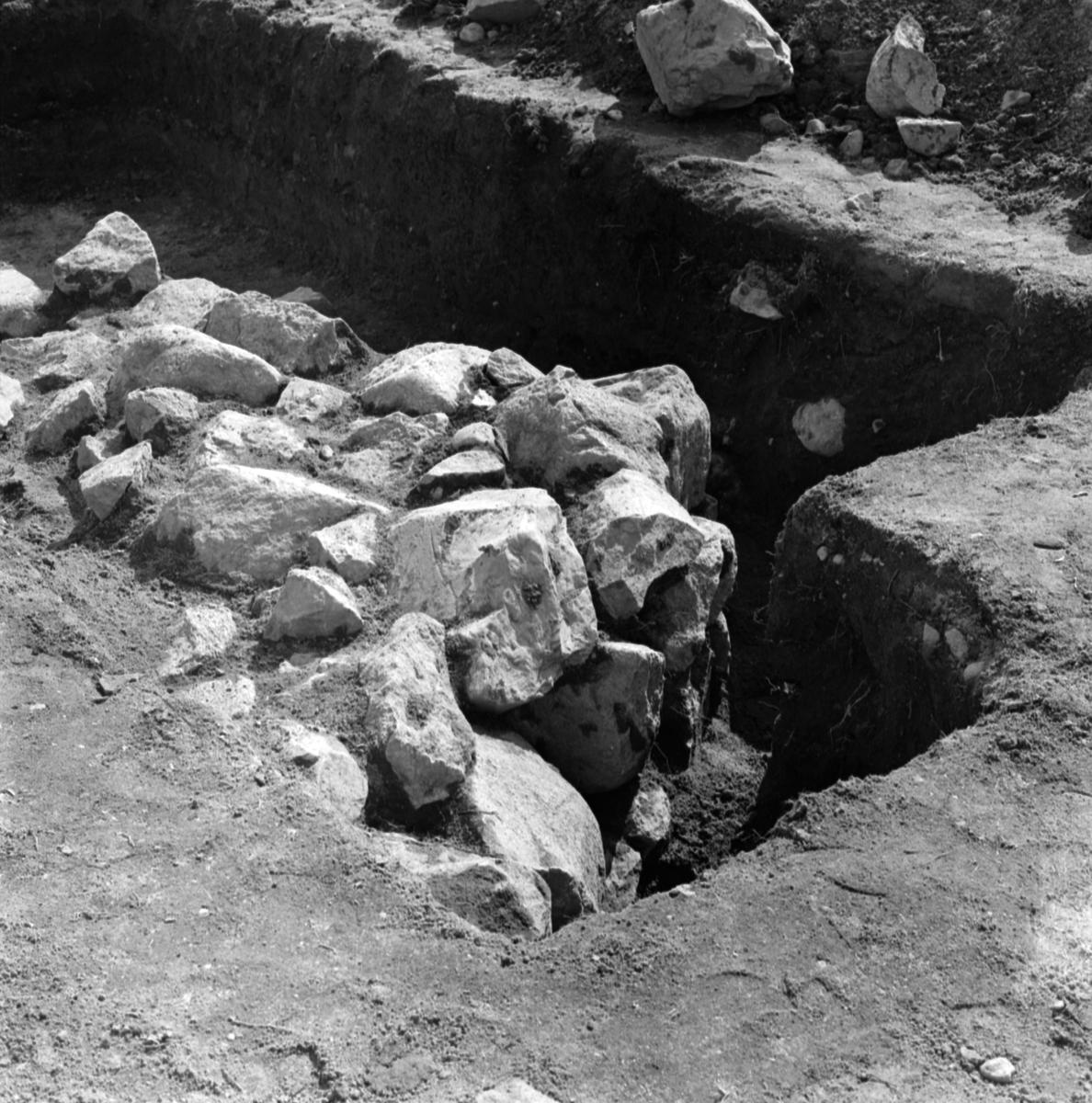 Prästgården, översikt - Arkeologi Gamla Uppsala 1973