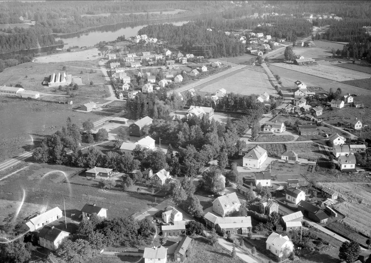 Flygfoto över Skutskär, Älvkarleby socken, Uppland 1958