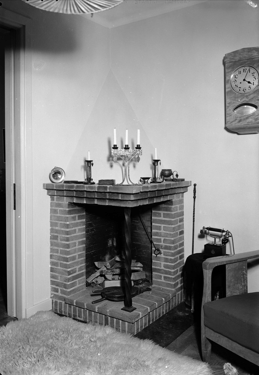 Öppen spis, Uppsala 1939