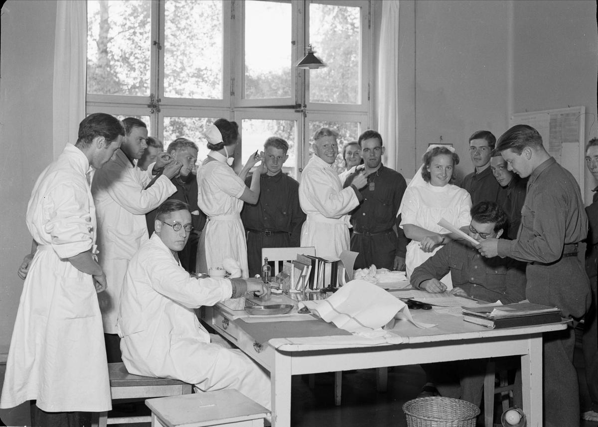 Hälsokontroll av soldater, Uppsala 1940