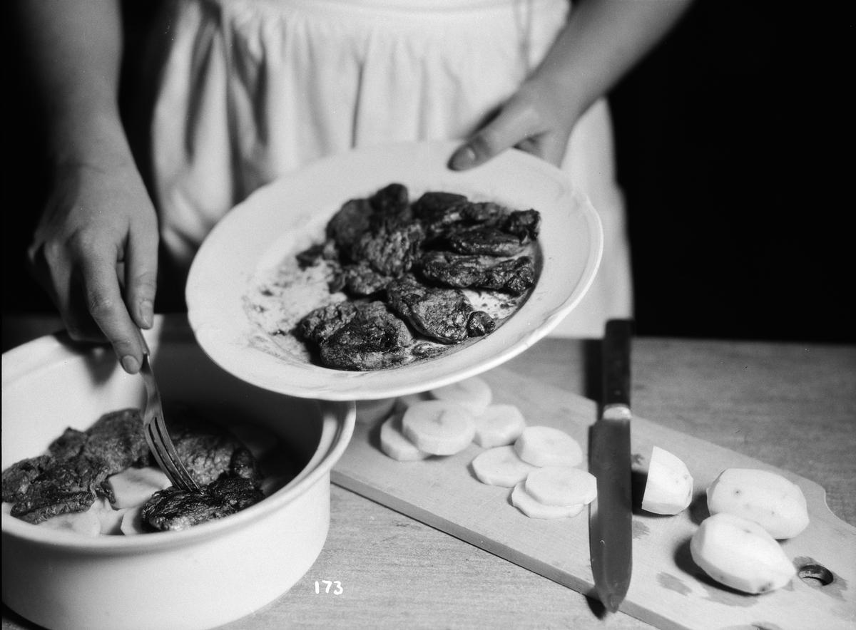 Matlagning, Fackskolan för huslig ekonomi, Uppsala februari 1932