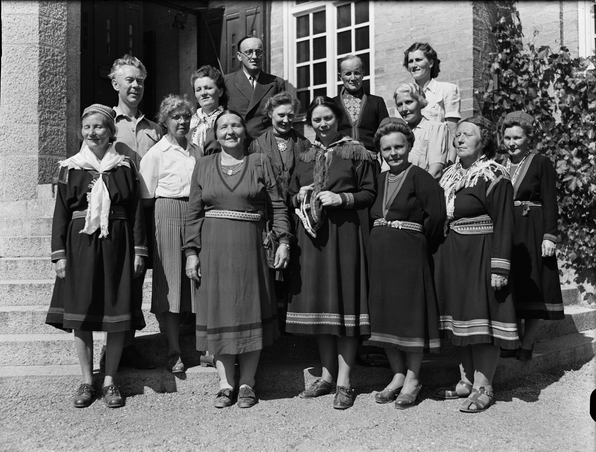 """""""Nomadskollärare på kurs i Uppsala"""", Folkskoleseminariet, Uppsala 1948"""