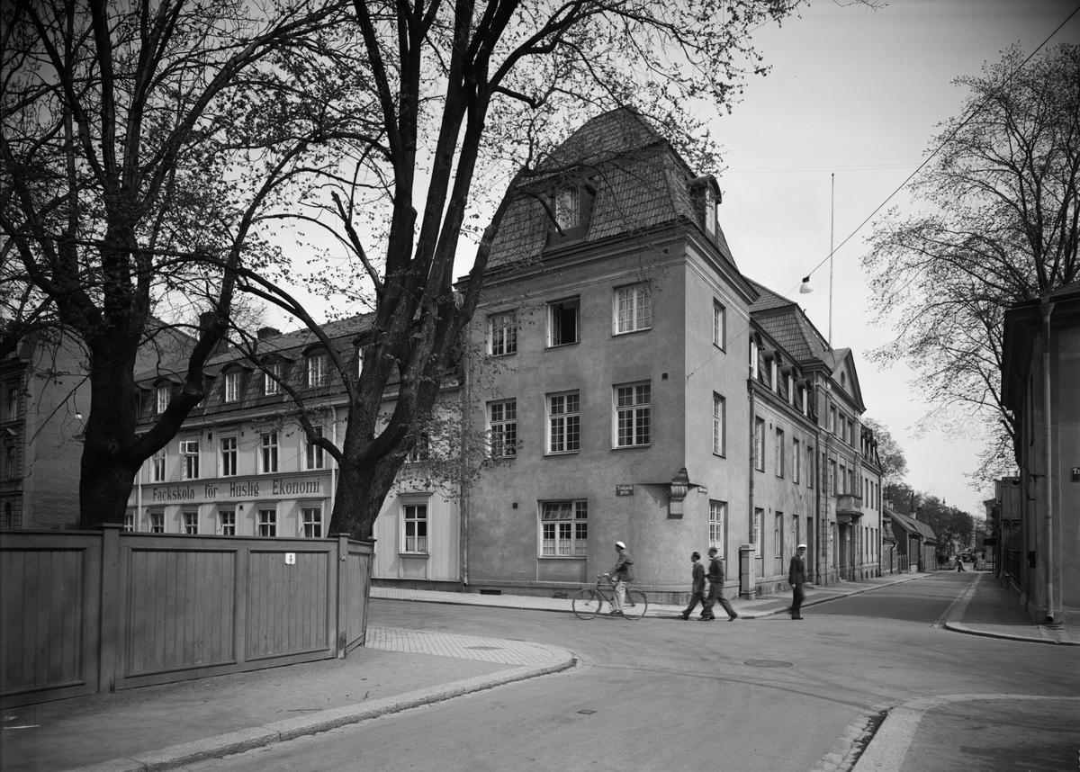 Fackskolan för huslig ekonomi, Trädgårdsgatan 14, Uppsala 1938