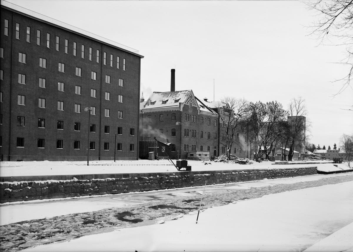 Upsala Ångqvarns AB vid Fyrisån, Uppsala 1939