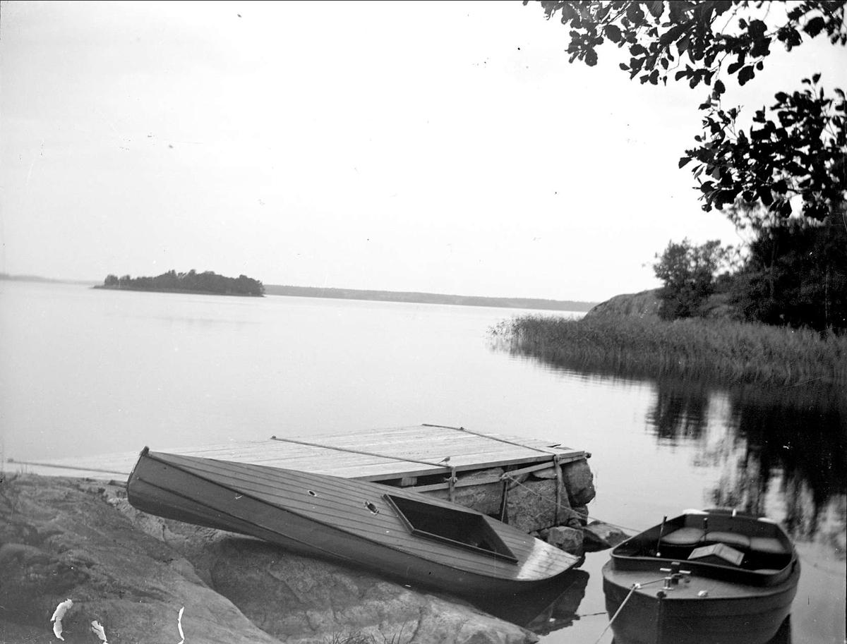 Flässjan i Ekoln, nära Krusenberg, Alsike socken, Uppland september 1910