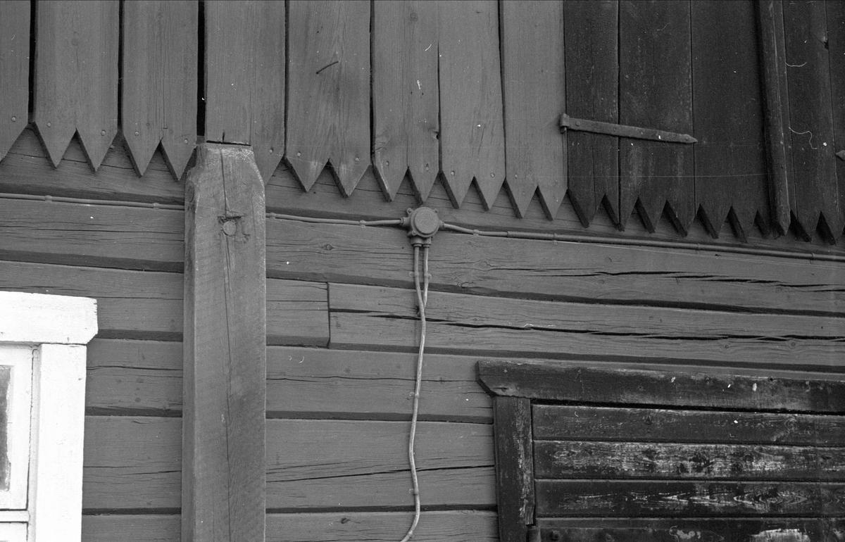 Ladugårdsvägg, Högsta 3:4, Bälinge socken, Uppland 1976