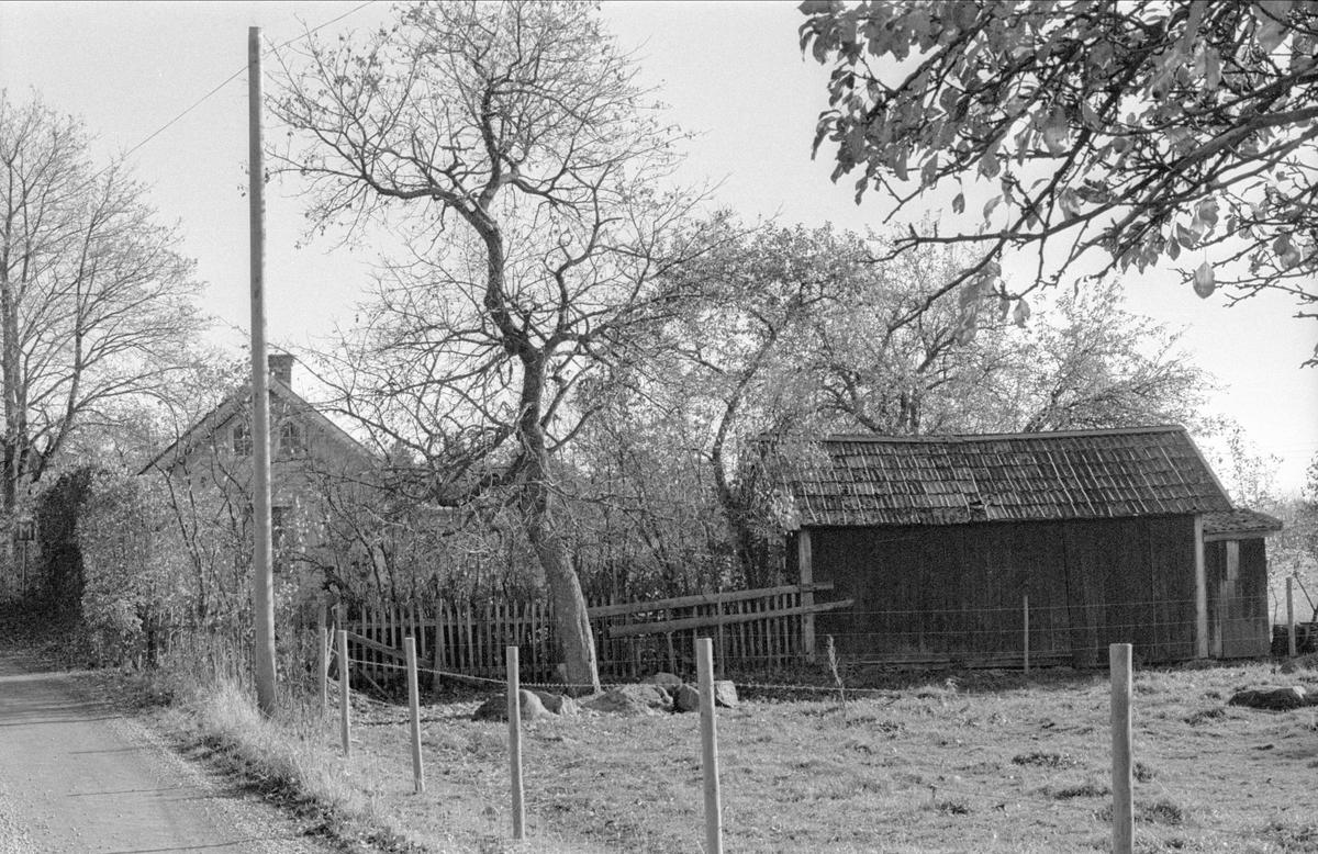 Parstuga och vedbod/hemlighus, Fullerö 18:34, Hämringe, Gamla Uppsala socken, Uppland 1978