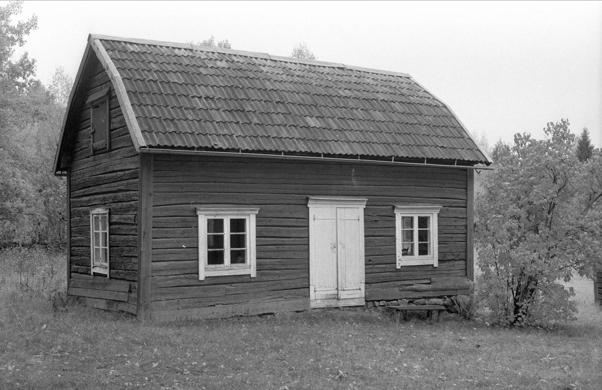 Undantagsstuga, Bandarbo, Bälinge socken, Uppland 1983