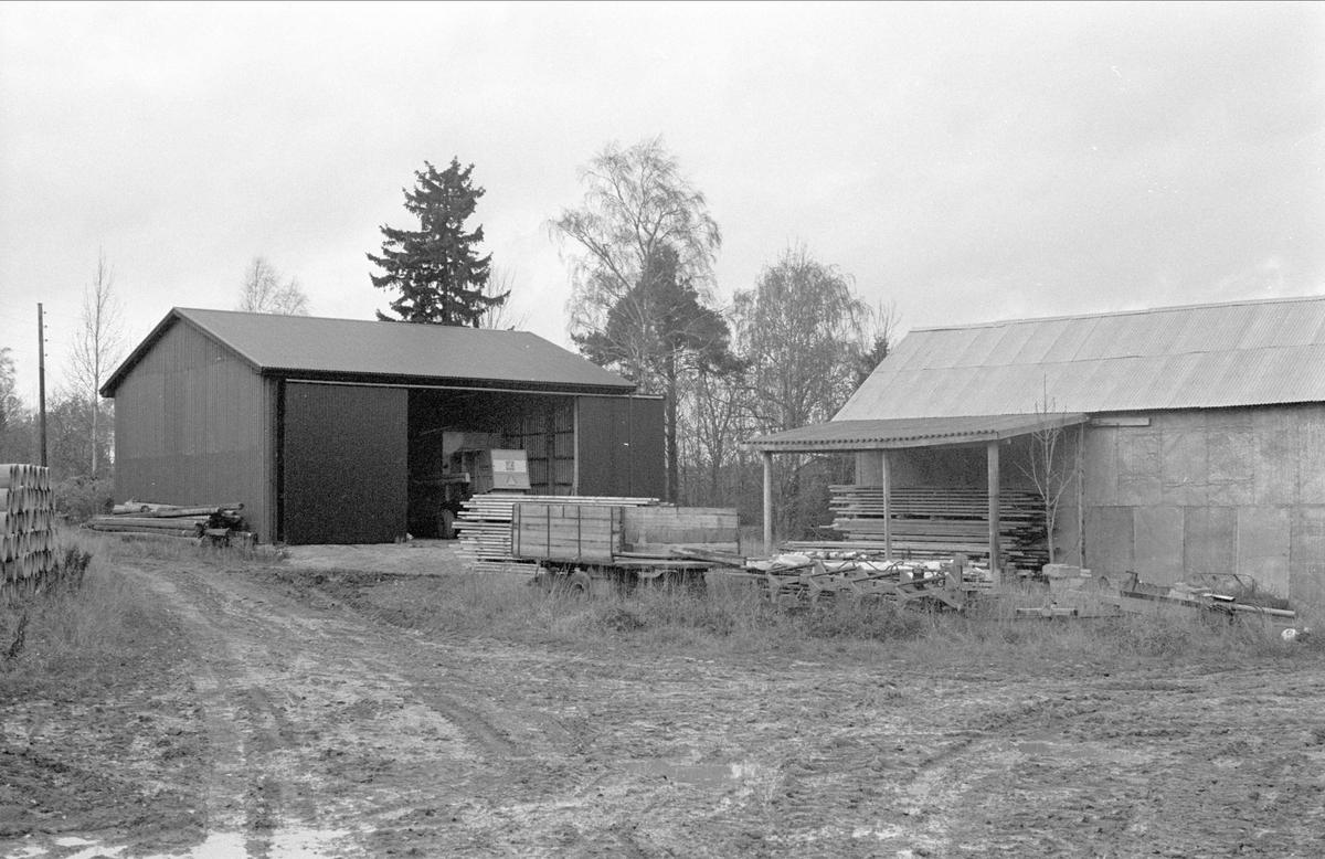 Maskinhall, Kibrunna 1:1, Ramsta socken, Uppland 1984