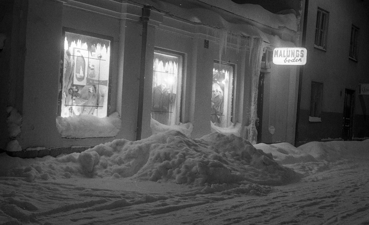 Vintermotiv, Malungsboden, S:t Persgatan, Uppsala 1961