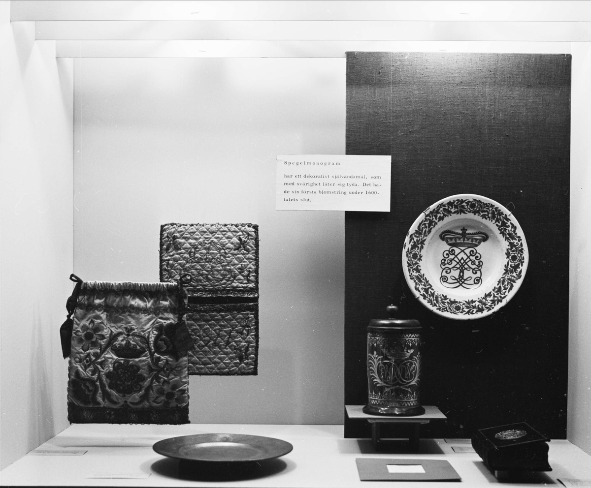 Utställningen Monogram på Upplandsmuseet, Uppsala 1965