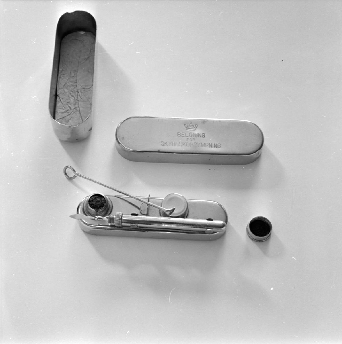 Sjukvårdsutrustning, Uppsala april 1965