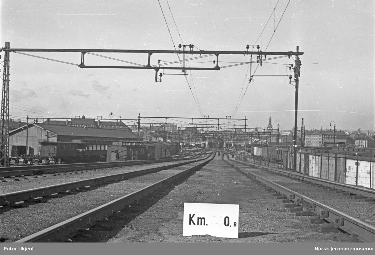 Hovedbanen : linjeføring km 0,8