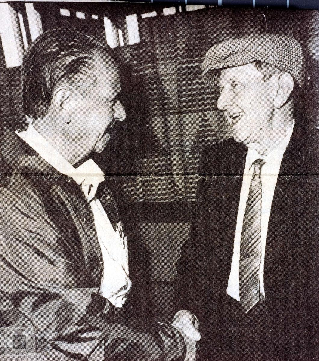 Brødrene Albert og Torjus Refsnes fra Grindheim møtes etter 58 år.