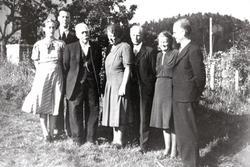 Familien Håland samlet på Håland. Grindheim Audnedal.