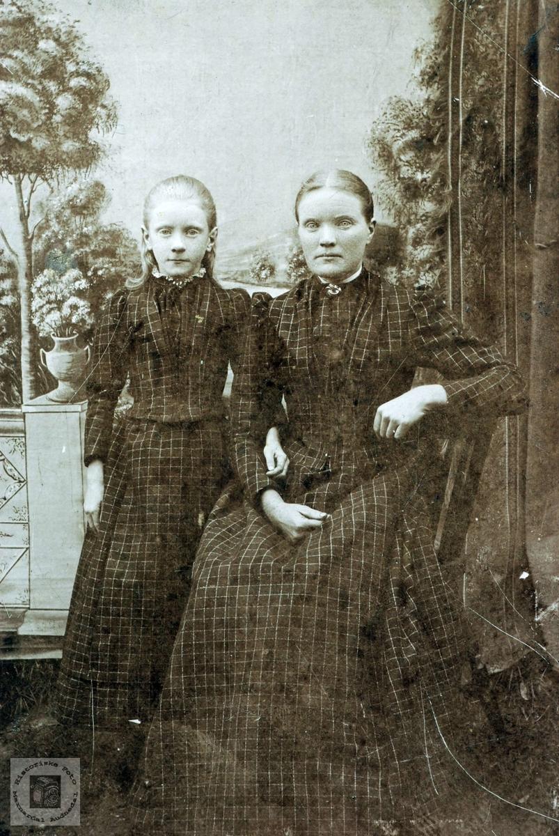 Portrett av mor datter? Eller to søstre. Grindheim.