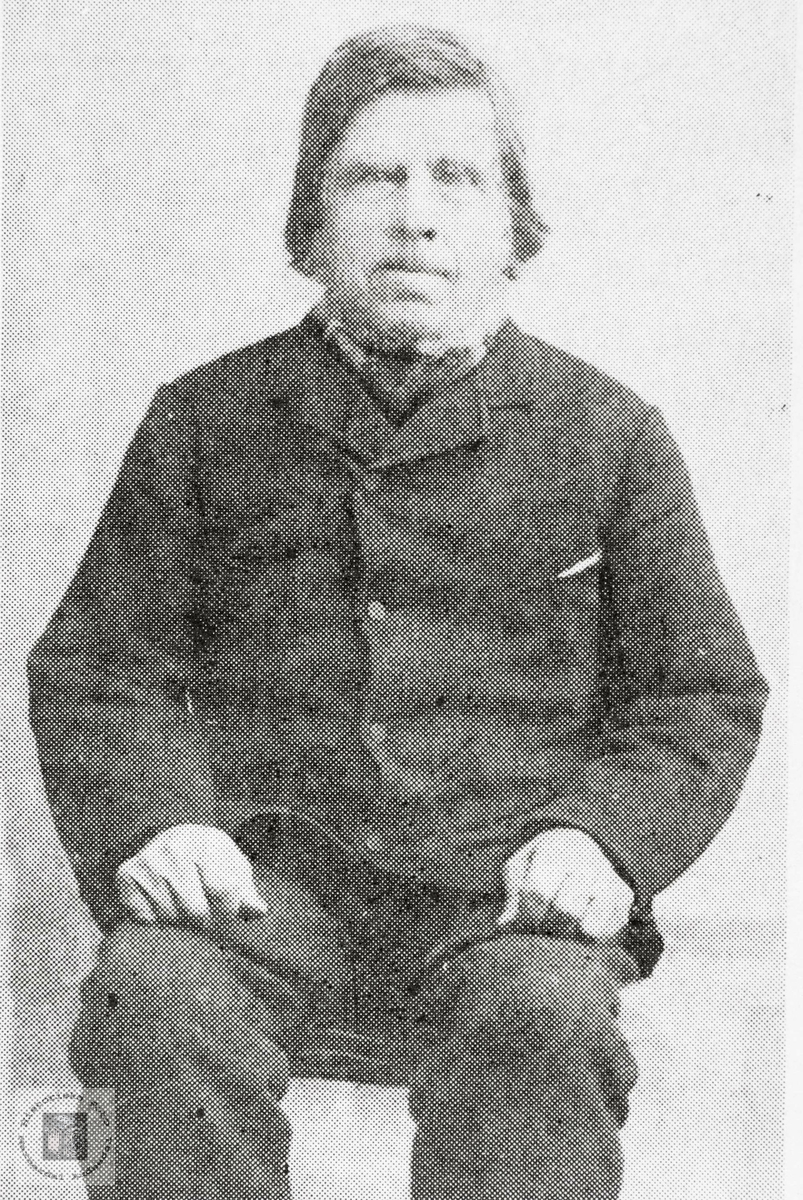 Portrett av Børuf Håland. Grindheim Audnedal.