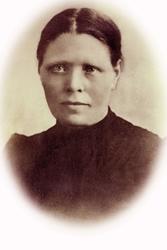Portrett av Tomine Ågedal gift Hårtveit. Grindheim Audnedal.