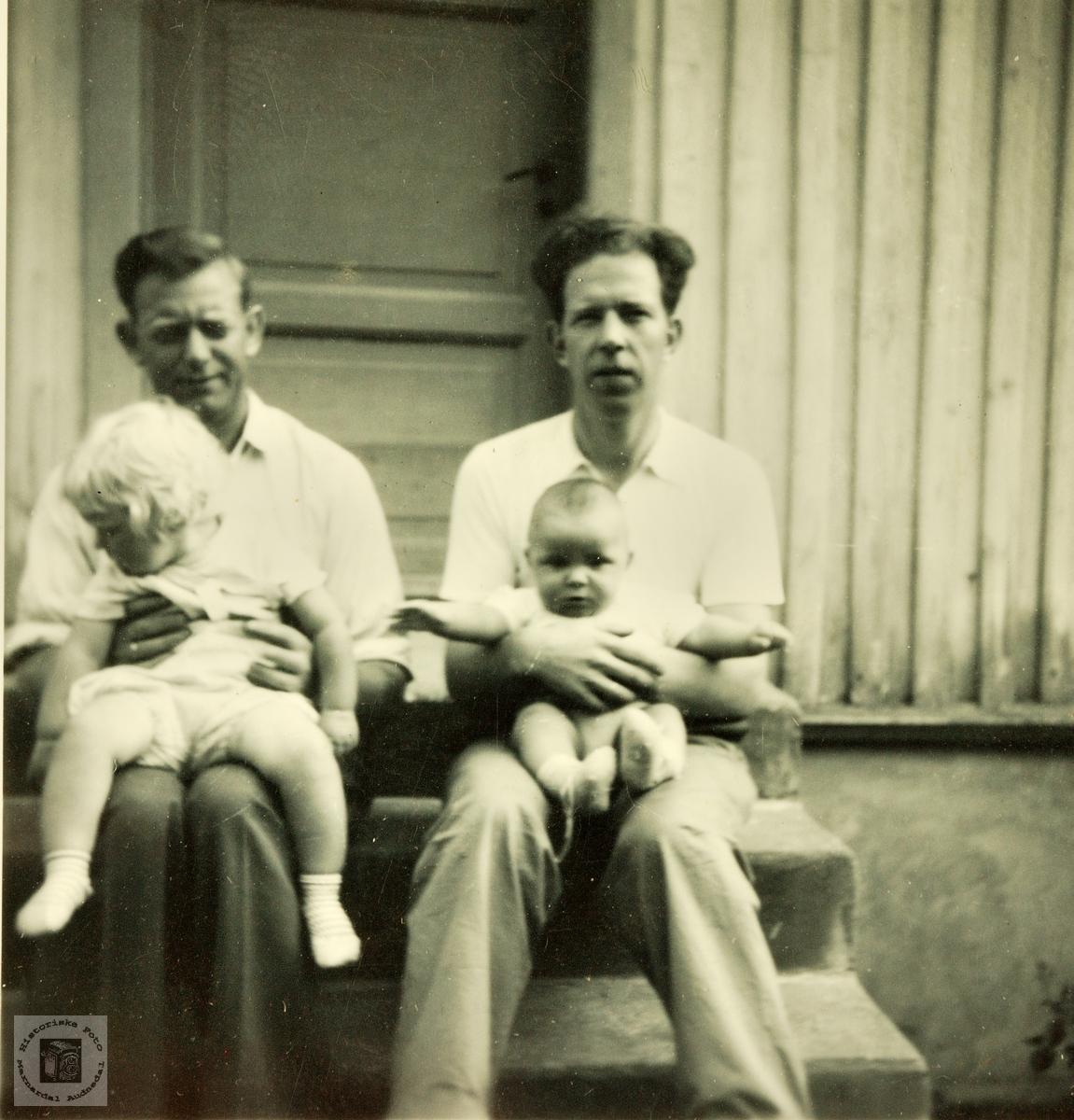 To unge fedre. Grindheim.