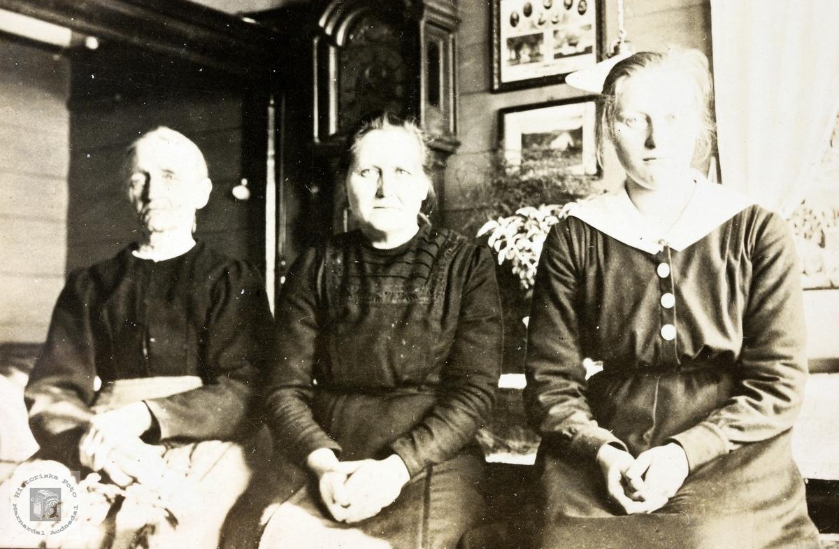 Tre generasjoner Refsnes kvinner. Grindheim.
