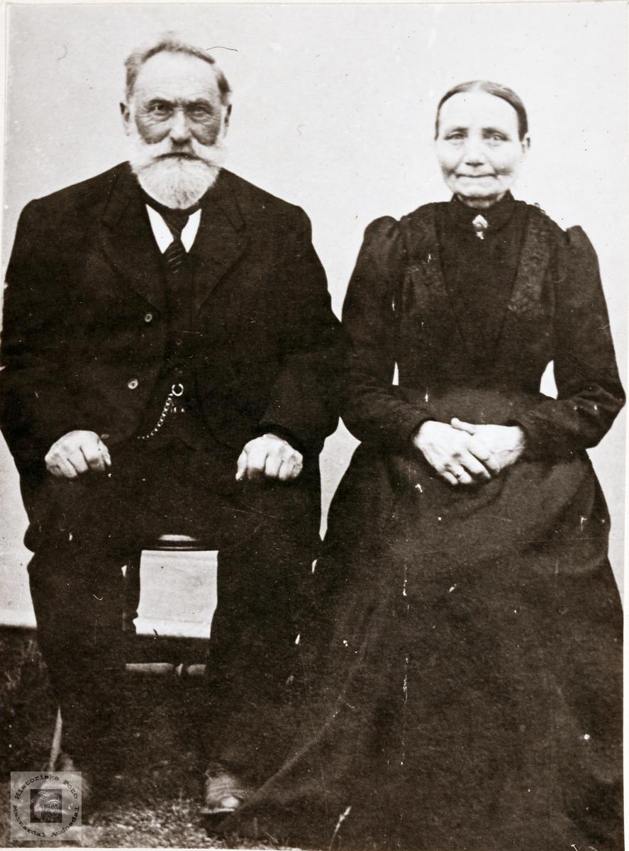 Portrett av ekteparet Ånen og Gunvor Viblemo. Konsmo.