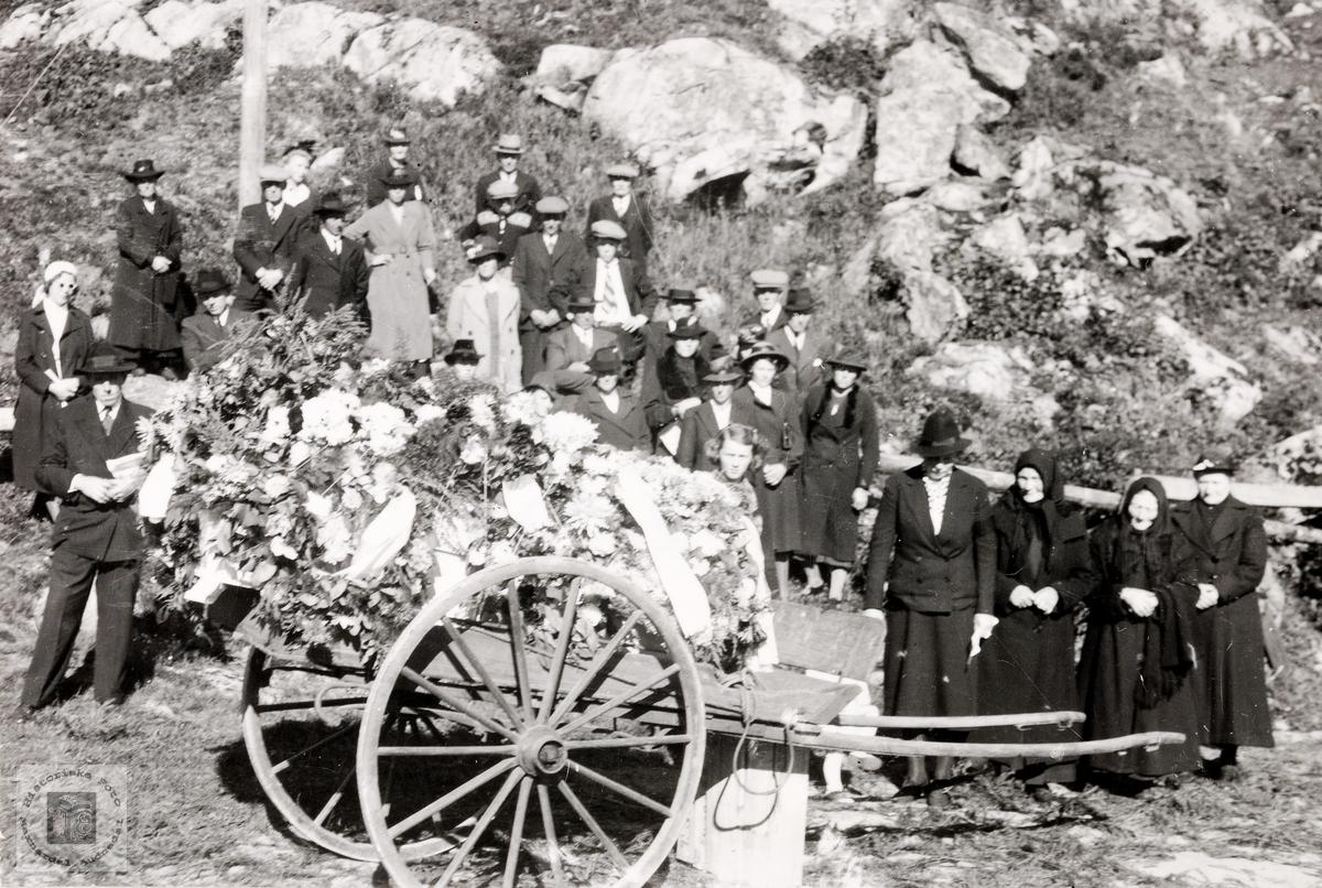 Begravelse til Knut Fiddan. Konsmo.