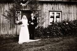 Brudeparet Anna og Torje Flåt. Bjelland.