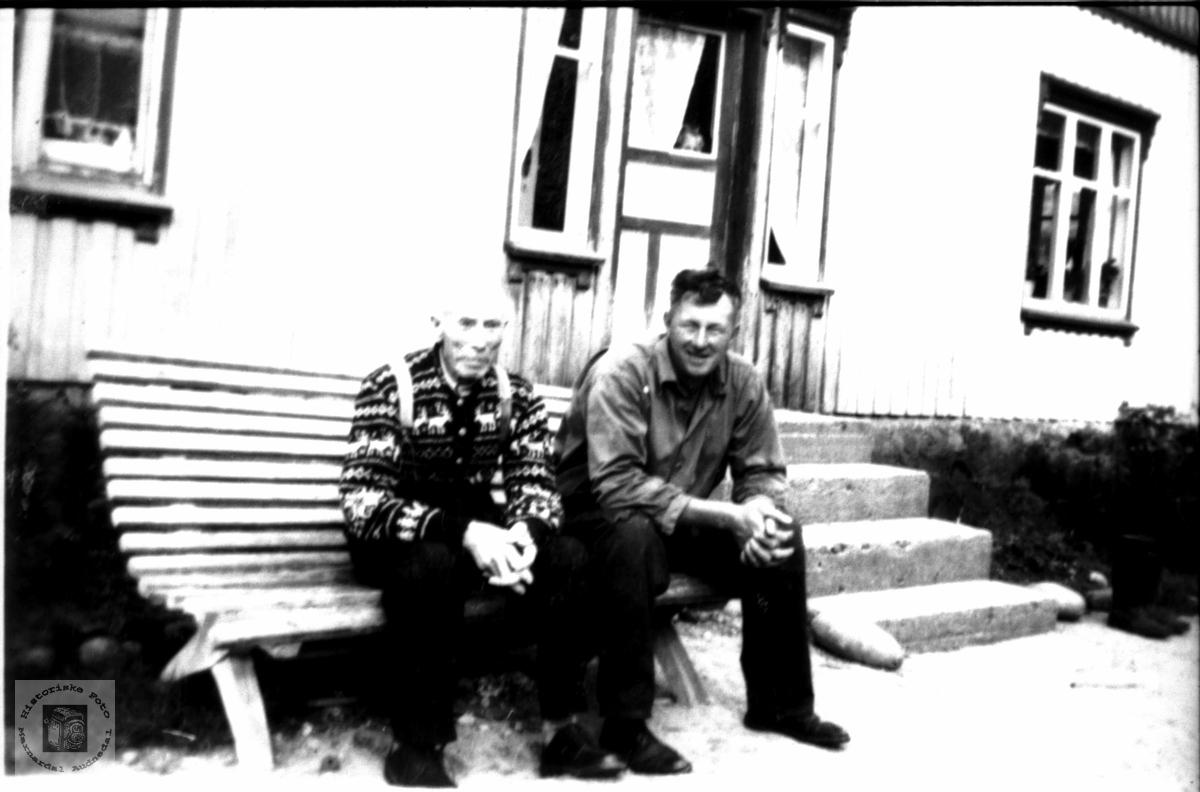 Portrett av Lars Homme og Knut Stedjan, Bjelland.