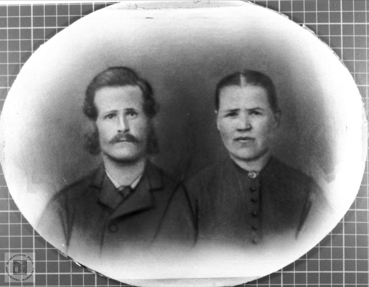 Ekteparet Søren og Berte Strædet.