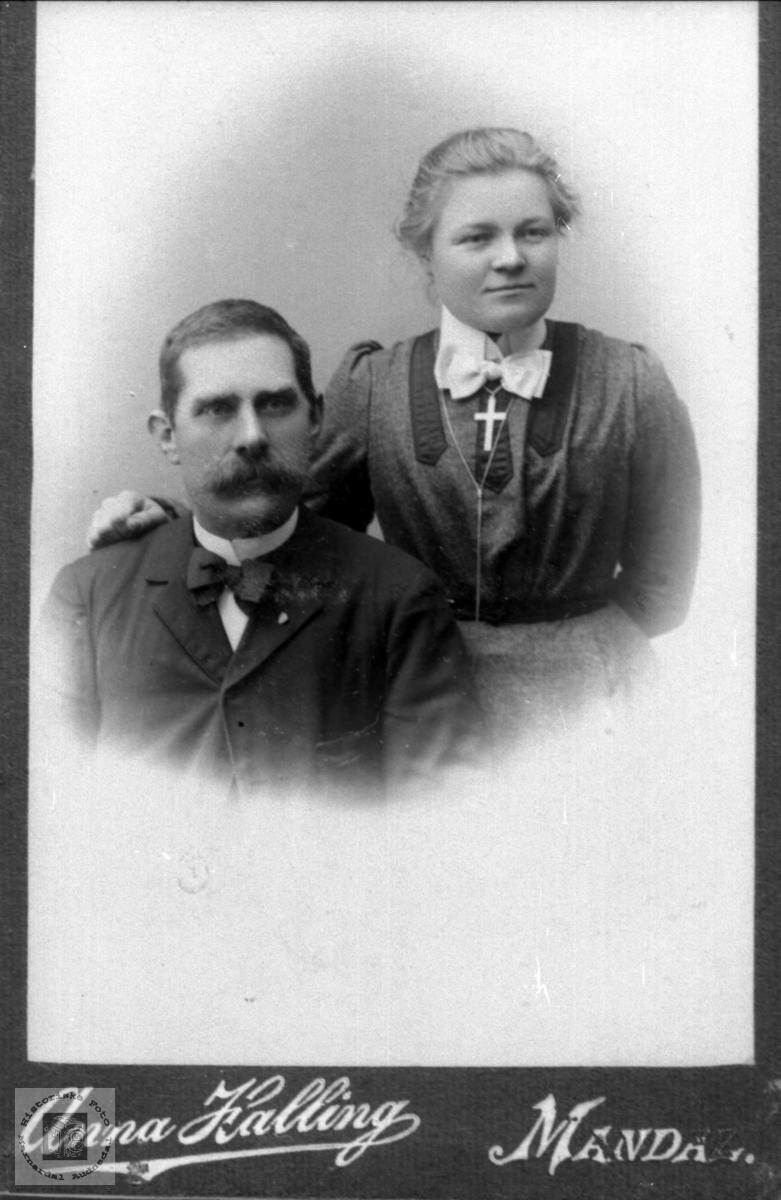 Portrett av Torje og Anna Øydegard.