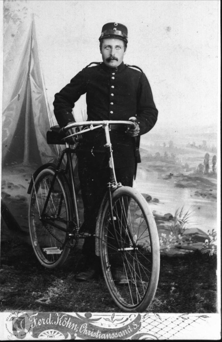 Portrett av soldat Bent Olsen Kleveland, Finsland.