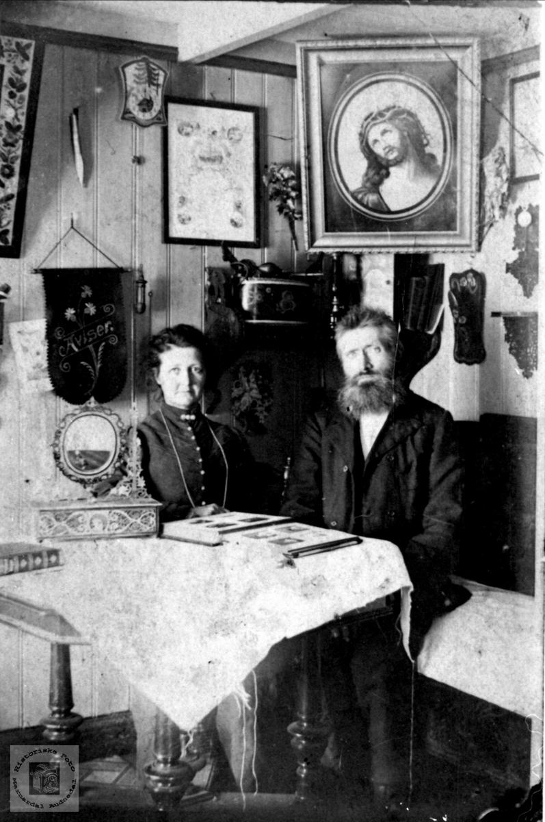 Ekteparet Siri og Peder Tobias Breland, Øyslebø.