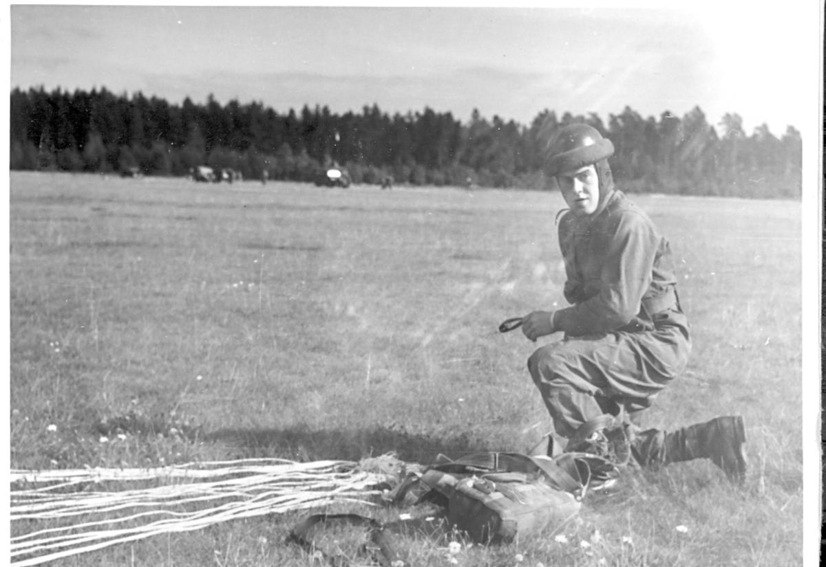 Fallskärmsjägarskolan i Karlsborg 1954.