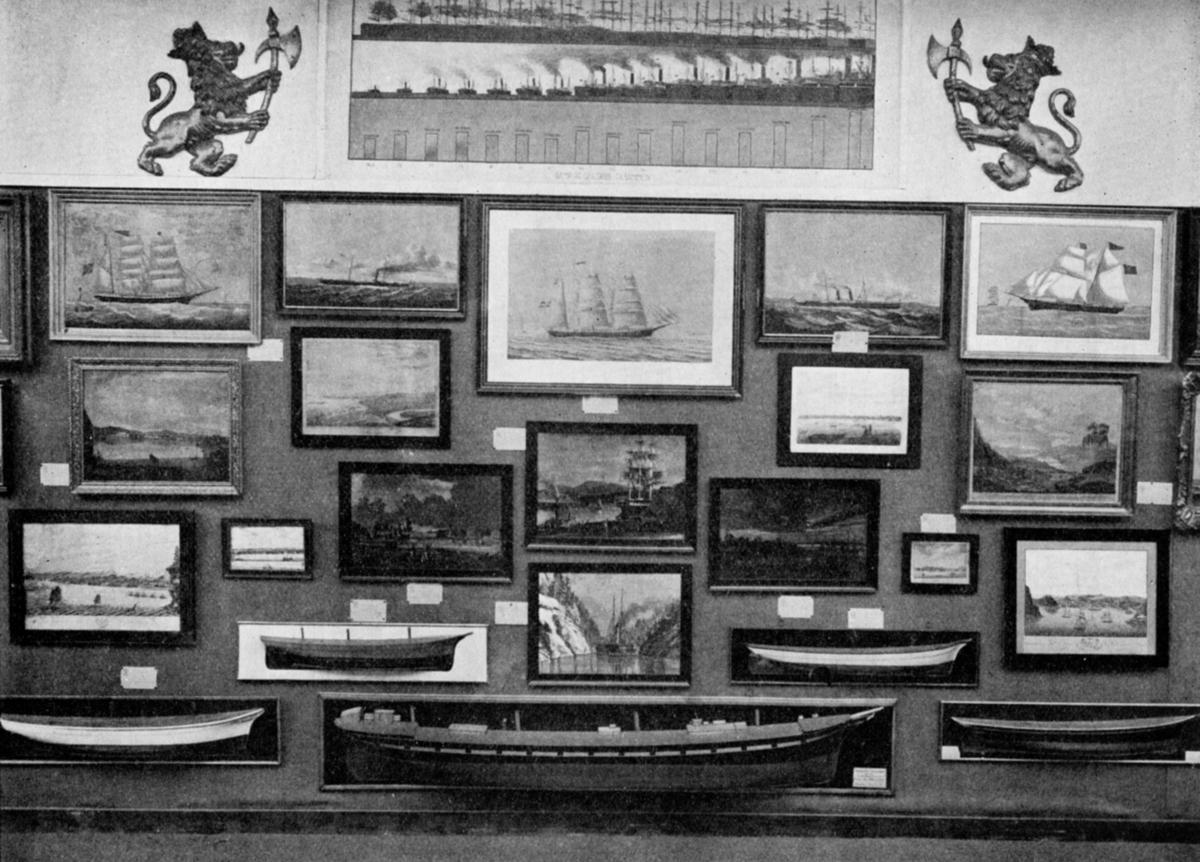 Fra den historiske sjøfartsavdeling. - Jubileumsutstillingen på Frogner 1914.