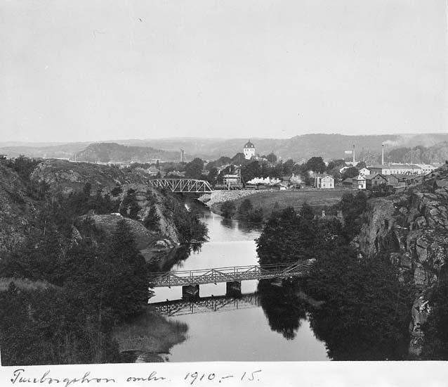 "Text som medföljer kortet: ""Tureborgsbron omkr 1910-15""."