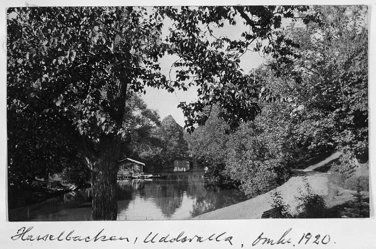 """Text på kortet: """"Hasselbacken, Uddevalla, omkr. 1920""""."""