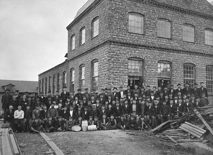 Anställda vid Uddevalla Tunnfabrik 1901