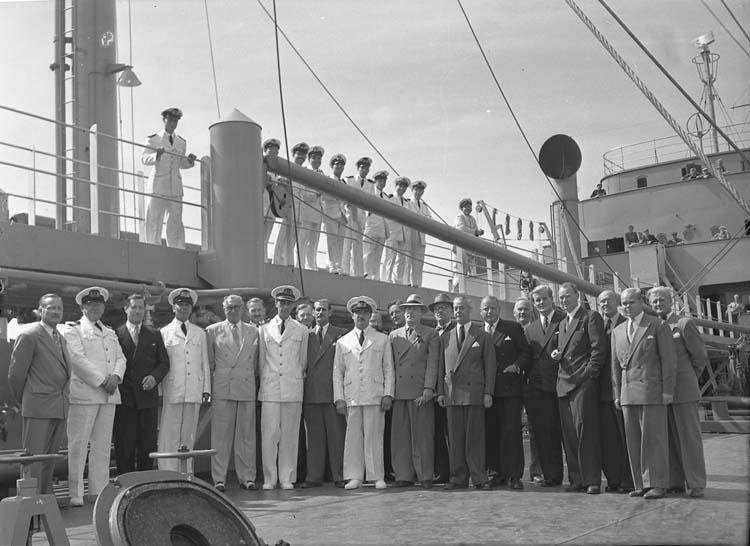 Besättning vid provtur och leverans av 111 M/S Islas Malvinas.