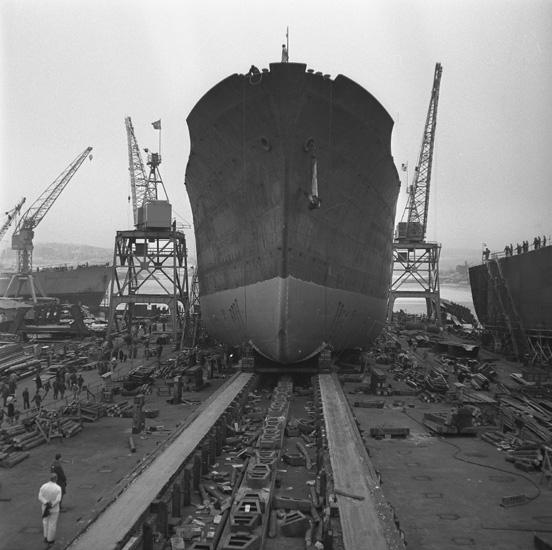Sjösättning av fartyg 141 B/C Louise.
