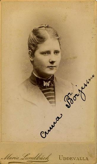 """Text på kortets baksida: """"Anna Börjesson"""".  ::"""