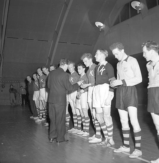"""Enligt notering: """"Handboll Kroppskultur 21/2 1947""""."""