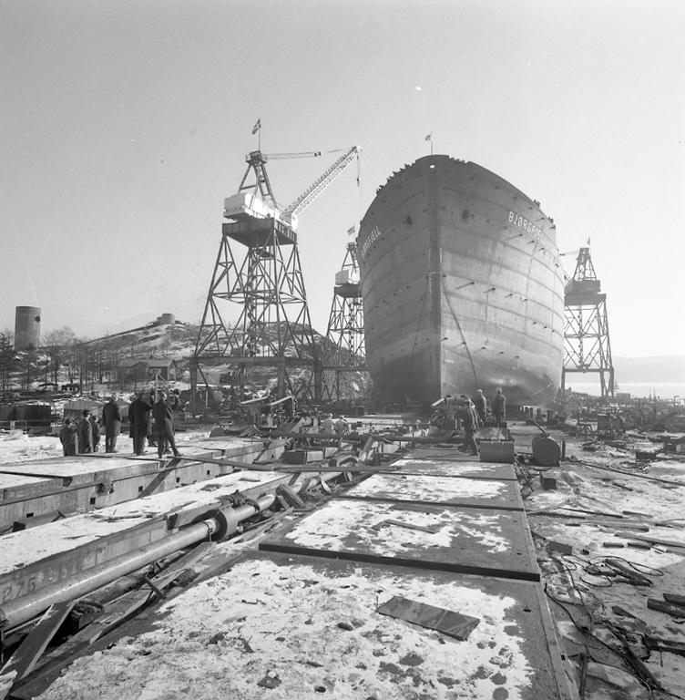 Sjösättning av M/S Björgfjell