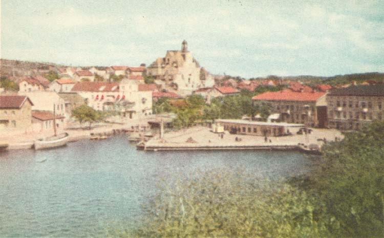 """Vykort. """"Strömstad. Norra Hamnen."""""""