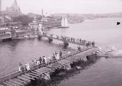 """Enligt text som medföljde bilden: """"Lysekil, Släggöbrons invi"""