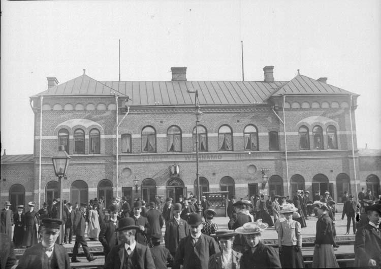 """""""Wernamos järnvägsstation 22 september 1907"""""""